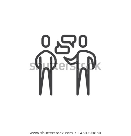 dialogue of two people icon vector outline illustration Stock photo © pikepicture