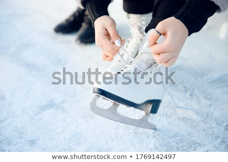 Shoes with Blade for Figure Skating in Winter Stock photo © robuart