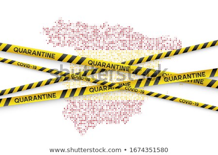 スペイン フラグ 実例 コロナウイルス 危険 国 ストックフォト © asturianu