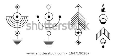 Conjunto abstrato geométrico símbolos geometria Foto stock © ColorHaze