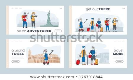 Activities for seniors concept landing page Stock photo © RAStudio