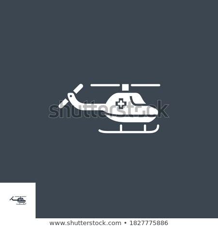 Emergency Helicopter related vector glyph icon. Stock photo © smoki