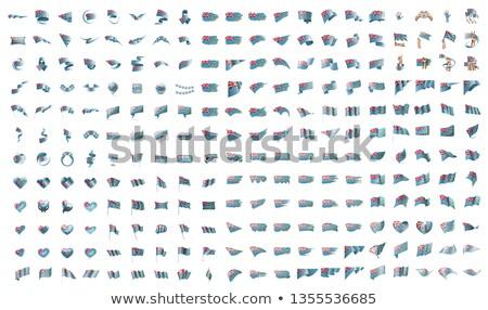 Grande coleção vetor bandeiras Tuvalu assinar Foto stock © butenkow