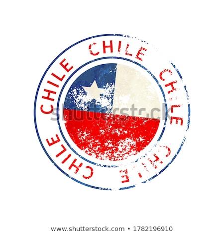 Chile felirat klasszikus grunge lenyomat zászló Stock fotó © evgeny89