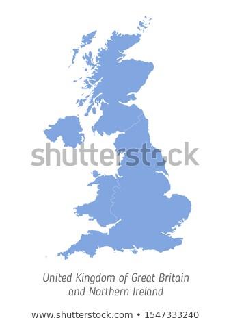 イギリス 国 地図 単純な 黒 シルエット ストックフォト © evgeny89