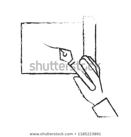 Strony wieczne pióro arkusza monochromatyczny Zdjęcia stock © yupiramos