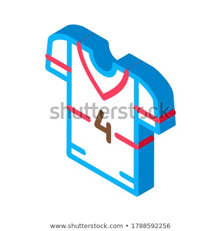 T-shirt with Number 4 isometric icon vector illustration Stock photo © pikepicture