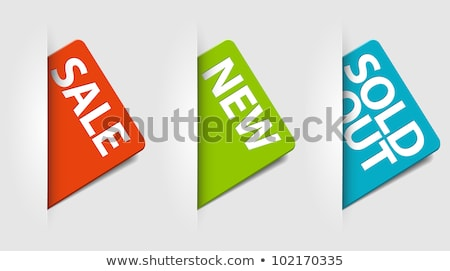 set of eshop tags for new sale and sold out items stock photo © orson