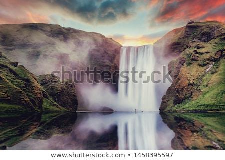 çağlayan · ada · doğa · manzara · yeşil - stok fotoğraf © ansonstock