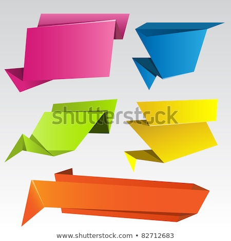 Abstract origami speech bubble. EPS 8 Stock photo © beholdereye