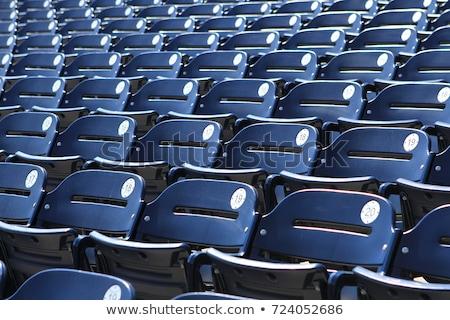 Estadio vacío rojo fútbol deporte Foto stock © franky242