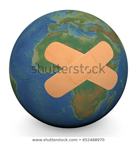 Herido tierra naturaleza fondo verde azul Foto stock © leeser
