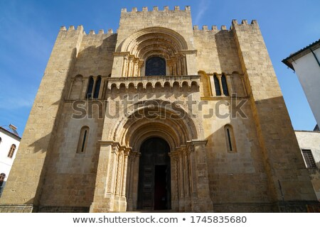 West facade of the Old Cathedral of Coimbra Stock photo © aladin66