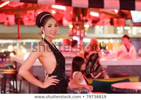 Stock fotó: Thai · pózol · bár · szépség · tánc · fények