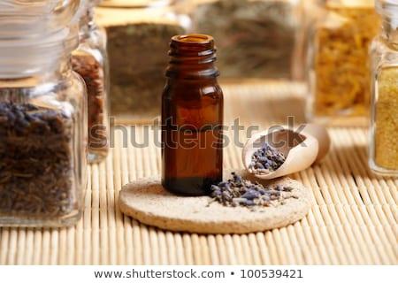 secas · lavanda · pétalas · Óleo · pedra · ervas - foto stock © Amaviael