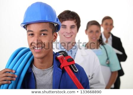 Plumber stood with female architect Stock photo © photography33