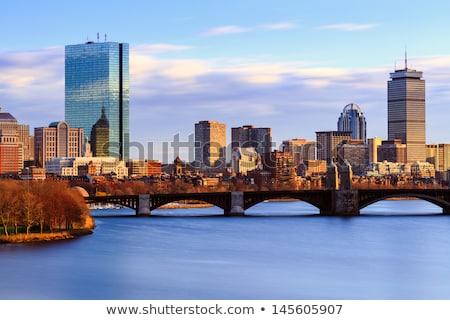 Бостон · декораций · моста · реке · зима · Массачусетс - Сток-фото © prill