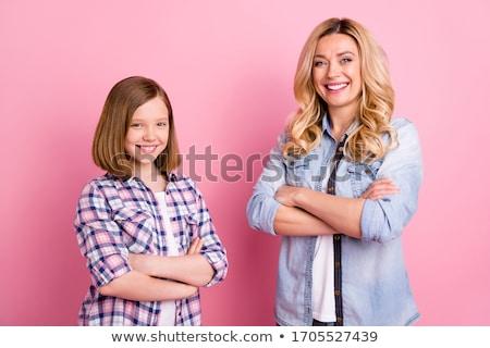Faible enfant jeans mamans main Photo stock © vankad