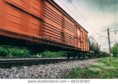 Vonat vasút sín állomás autó utca Stock fotó © Ansonstock