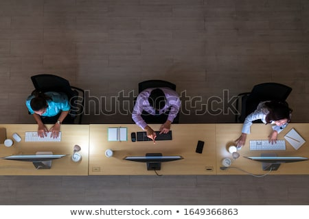 Operator working in help desk Stock photo © photography33