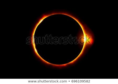 Eclipse espacio de la copia centro sol resumen luz Foto stock © Krisdog