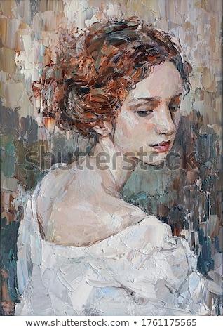 девушки портрет подобно позируют кирпичная стена Сток-фото © zastavkin