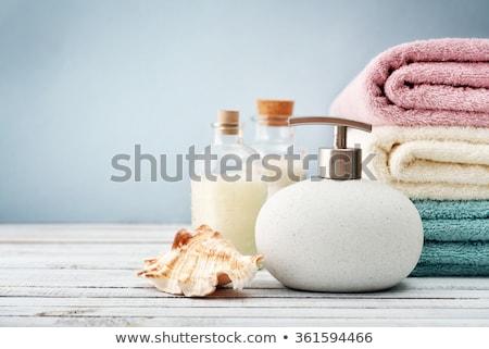 zeep · handdoeken · zomer · rozen · geneeskunde · ontspannen - stockfoto © artspace
