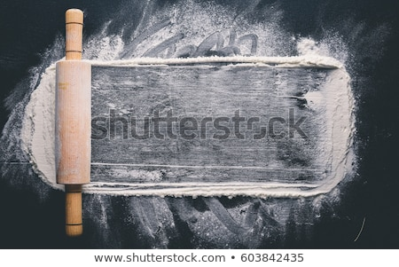 dough,flour and rolling pin Stock photo © M-studio