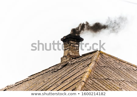 endommagé · rouge · carrelage · toit · construction · maison - photo stock © taviphoto
