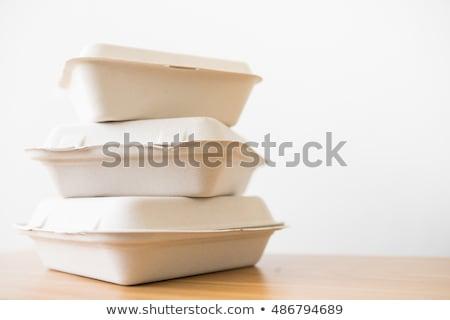 kínai · étel · doboz · fehér · 3D · renderelt · papír - stock fotó © devon
