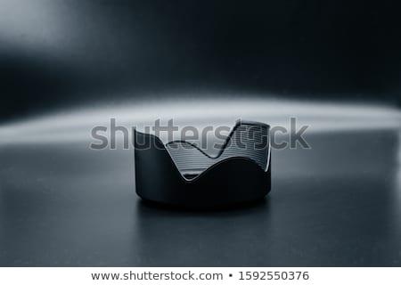 Black lens with a hood Stock photo © RuslanOmega
