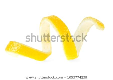 Stockfoto: Citroen · schil · geïsoleerd · witte · voedsel · natuur