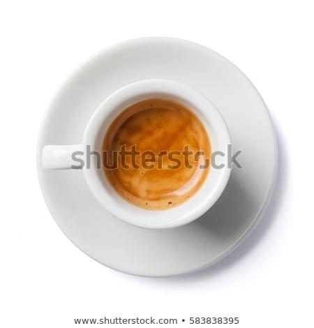 Aromatik fincan espresso arka plan tablo kafe Stok fotoğraf © jirkaejc