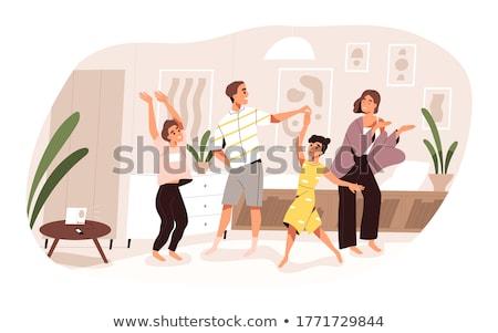 Manifestação dançar salsa casal branco música Foto stock © feedough