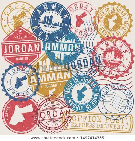 Posta Jordánia kép bélyeg térkép zászló Stock fotó © perysty