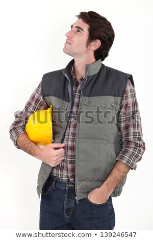 dreamy tradesman staring off into space stock photo © photography33