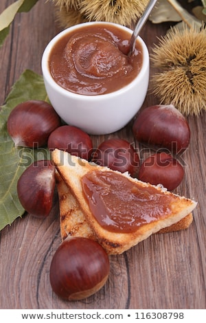 bread with chesnut cream Stock photo © M-studio