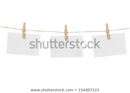 Note and a clothes peg Stock photo © grafvision