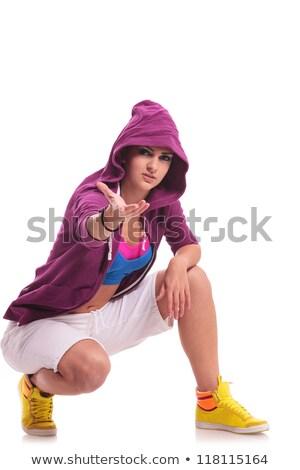 kadın · dansçı · genç · kadın · hip · hop · dışarı - stok fotoğraf © feedough