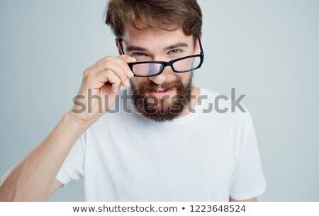 üzletember · elvesz · el · szemüveg · fiatal · mosolyog - stock fotó © photography33