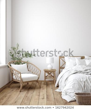illustration · intérieur · chambre · maison · fenêtre · président - photo stock © re_bekka