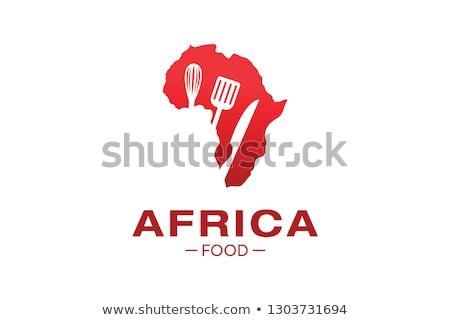 африканских продовольствие карта Африка свежие овощи текстуры Сток-фото © photosil