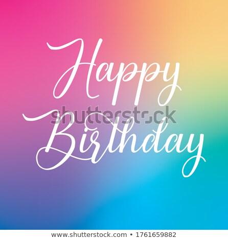 Joyeux anniversaire carte typographie lettres type police Photo stock © thecorner