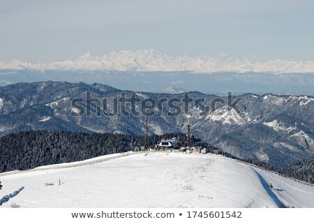 Landscape view from ropeway altitude Stock photo © ruzanna