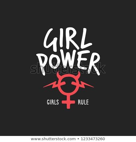 Love devil girl, vector illustration Stock photo © carodi