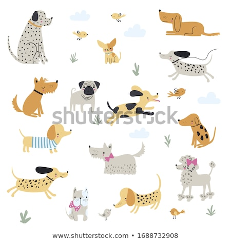 Vector illustration of funny dogs  Stock photo © Elisanth