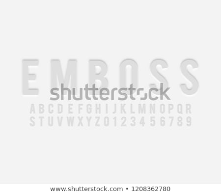 Embossed letter and numbers Stock photo © SSilver
