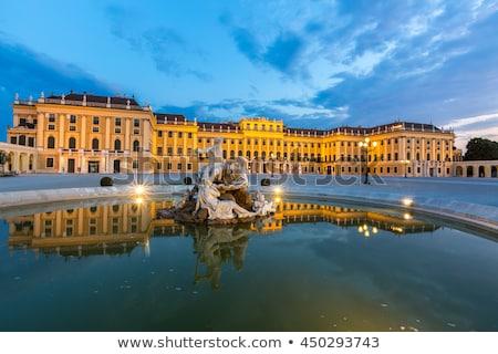 Schonbrunn Palace In Vienna In The Evening Stok fotoğraf © vichie81