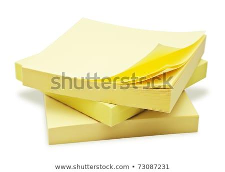 aislado · notas · adhesivas · establecer · seis · recordatorio · notas - foto stock © tab62