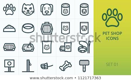 Ilustración perro WC tazón mejor sentarse Foto stock © karelin721